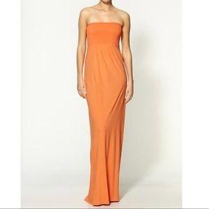 PURPLE smocked bodice maxi dress
